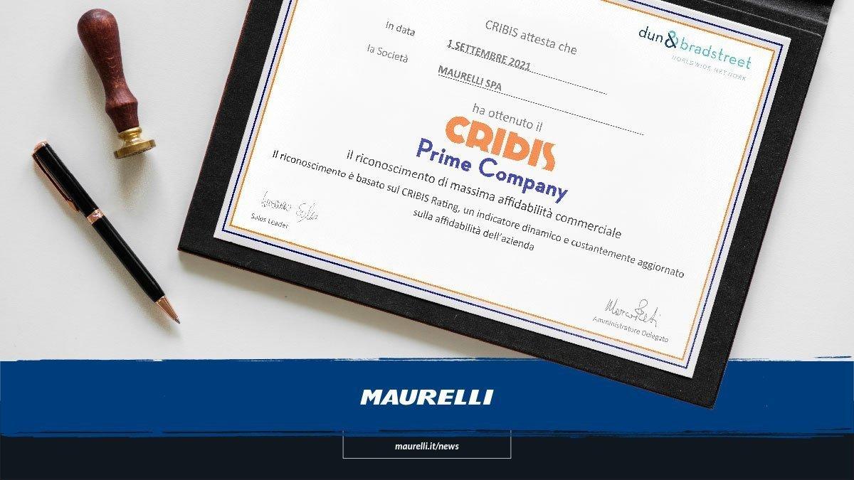 Maurelli Ottiene il Cribis Prime Company